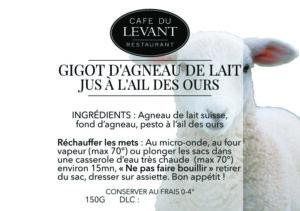 Plats à l'emporter | Café du Levant